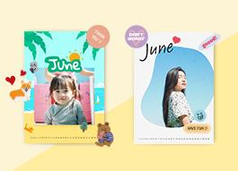 6월 생일자 월력 제작권 증정