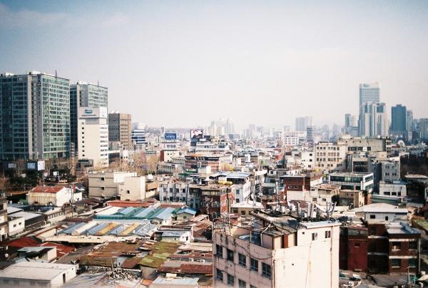 세운옥상에서 본 서울풍경