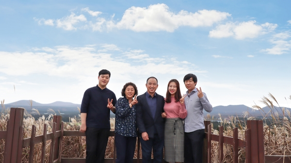 첫 가족여행과 첫 가족사진